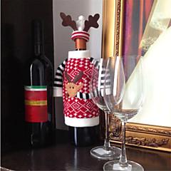 karácsonyi szarvas szarvas stílusú vörösbort pezsgősüveg kiterjed táska az új év karácsonyi díszek dísz