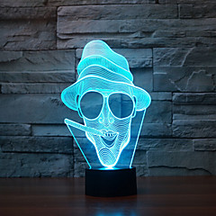 Χαμηλού Κόστους -καπνίσματος αφύπνιση άγγιγμα 3d οδήγησε νυχτερινό φως 7colorful ατμόσφαιρα διακόσμηση λάμπα φωτισμός καινοτομία