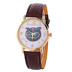 お買い得  レディース腕時計-女性用 リストウォッチ クォーツ デジタル ムーンフェイズ クール PU バンド ハンズ チャーム ヴィンテージ キャンディ ブラック / 白 - ローズ Brown ライトブルー