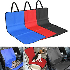 Cat Dog Car Seat Cover Pet Blankets Solid Plaid/Check Waterproof Foldable Black Beige Gray Red Blue 105*55CM
