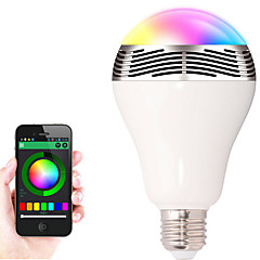 cheap LED Bulbs-7W 600 lm E26/E27 LED Smart Bulbs 20 leds SMD 5050 Sensor Bluetooth WiFi Infrared Sensor Dimmable APP Decorative Remote-Controlled RGB