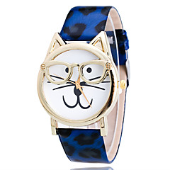 abordables Relojes con Diseño Leopardo-Mujer Reloj de Pulsera Reloj Casual PU Banda Leopardo / Dibujos / Moda Blanco / Azul / Naranja / Un año / Tianqiu 377