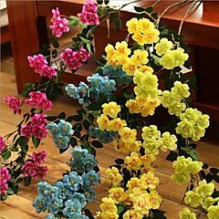 Set of 1 PCS 2 분기 폴리에스터 장미 테이블  플라워 인공 꽃 Long 35.4(inch)