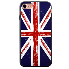 Mert iPhone 7 tok / iPhone 7 Plus tok / iPhone 6 tok Dombornyomott / Minta Case Hátlap Case Zászló Kemény Akril AppleiPhone 7 Plus /