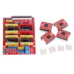 voordelige -cnc schild v3 a4988 stepper driver voor ramps 1.4 RepRap 3D-printer