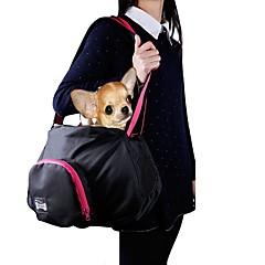 billige Kattetilbehør og Grooming-Kat Hund Kufferter & Rejse Rygsække Skuldertaske Kæledyr Transportvirksomheder Bærbar Solid Sort Grå