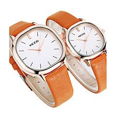 preiswerte Armbanduhren für Paare-KEZZI Armbanduhr Sender Schlussverkauf, Cool, / Schwarz / Kaffee / Braun