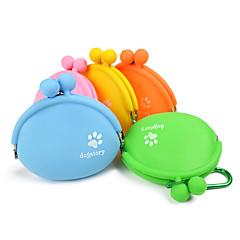 قط كلب الطاسات وزجاجات حيوانات أليفة السلطانيات والتغذية المحمول برتقالي أصفر أخضر أزرق زهري