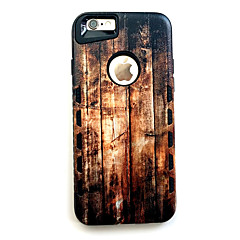 Недорогие Кейсы для iPhone 6-Для Кейс для iPhone 7 / Кейс для iPhone 7 Plus / Кейс для iPhone 6 Защита от удара Кейс для Задняя крышка Кейс для Имитация дерева Твердый