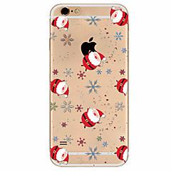 Для Кейс для iPhone 7 / Кейс для iPhone 6 / Кейс для iPhone 5 Ультратонкий / С узором Кейс для Задняя крышка Кейс для Новогодняя тематика