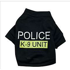 お買い得  犬用ウェア&アクセサリー-犬 スウェットシャツ 犬用ウェア 警察 / 軍隊 コットン コスチューム ペット用 男性用 女性用 誕生日 コスプレ ファッション