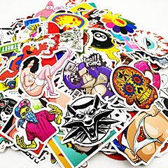 cheap Automotive Exterior Accessories-500 Pcs/ Pack Random Music Film Vinyl Skateboard Guitar Travel Case Sticker Car Decal Cute Stickers