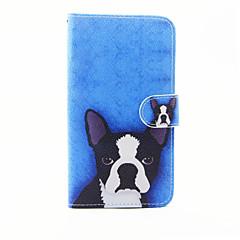 Til lg g5 hundemønster pu læder fuld kuffert med stativ og kortspalte til lg g5
