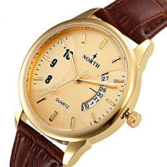 preiswerte Tolle Angebote auf Uhren-Damen Quartz Armbanduhr / Sportuhr Kalender / Wasserdicht / Punk / Cool Leder Band Retro / Freizeit / Modisch Schwarz / Braun
