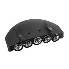 cheap LED Novelty Lights-5LED Headlight HeadLamp Flashlight Cap Hat Torch Light Lamp Outdoor Fishing Camping Hunting Clip-On Super Bright