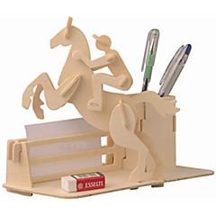 Puzzles Holzpuzzle Bausteine DIY Spielzeug Wagen / Pferd 1 Holz Elfenbein Model & Building Toy