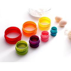 7PCS Backen Zum Selbermachen / Backen-Werkzeug Plätzchen Kunststoff Cupcake & Muffin-Formen