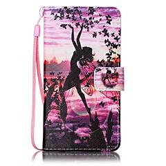 Для Кейс для Sony Бумажник для карт / Кошелек / со стендом / С узором Кейс для Чехол Кейс для Соблазнительная девушка Твердый