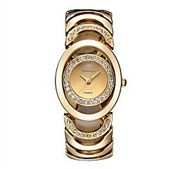 preiswerte Damenuhren-Damen Modeuhr Kleideruhr Armband-Uhr Quartz Cool Imitation Diamant Edelstahl Band Analog Luxus Retro Freizeit Silber / Gold / Rotgold - Silber Gold / Weiß Rotgold
