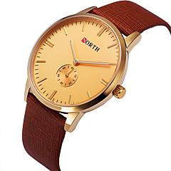 preiswerte Tolle Angebote auf Uhren-Damen Sportuhr / Militäruhr / Armbanduhr Cool Leder Band Retro / Freizeit / Modisch Schwarz / Blau / Braun / Edelstahl / Zwei jahr / Sony SR626SW