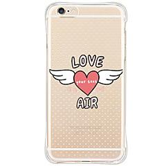 Для Кейс для iPhone 6 / Кейс для iPhone 6 Plus / Кейс для iPhone 5 Защита от удара / С узором Кейс для Задняя крышка Кейс для С сердцем
