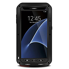 abordables Galaxy S6 Carcasas / Fundas-Funda Para Samsung Galaxy S7 edge / S7 Agua / Polvo / prueba del choque Funda de Cuerpo Entero Un Color Dura Metal para S7 edge / S7 / S6 edge