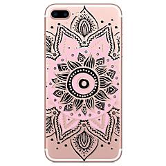 Для Кейс для iPhone 7 / Кейс для iPhone 6 / Кейс для iPhone 5 Прозрачный / Рельефный / С узором Кейс для Задняя крышка Кейс дляКружевной