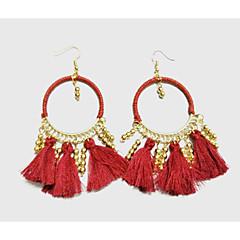preiswerte Ohrringe-Damen Quaste Tropfen-Ohrringe / Ohrring - Quaste Kaffee / Rot / Blau Für Hochzeit / Party / Alltag
