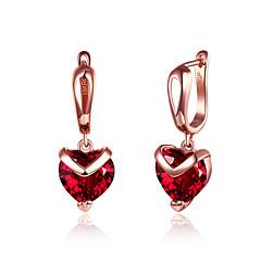 Χαμηλού Κόστους Κρεμαστά Σκουλαρίκια-Γυναικεία Κρεμαστά Σκουλαρίκια Cubic Zirconia Βασικό Μοντέρνα Ζιρκονίτης Χαλκός Καρδιά Κοσμήματα Πάρτι Δουλειά