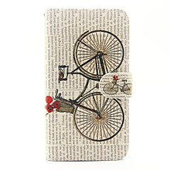 voordelige Hoesjes-Voor wiko lenny 3 lenny 2 fietspatroon pu lederen full body case met tribune en kaart slot voor wiko lenny 2 lenny 3 zonsondergang 2
