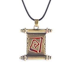 Недорогие Ожерелья-Муж. Жен. Ожерелья с подвесками  -  Уникальный дизайн Бронзовый Ожерелье Назначение Для вечеринок Повседневные