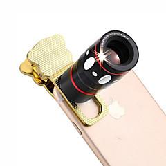4 em 1 universal lente da câmera grampo (teleobjectiva lente / olho de peixe / lente grande angular / lente macro)