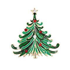 お買い得  ブローチ-女性用 ブローチ - ファッション, クリスマス ブローチ グリーン 用途 パーティー / 誕生日 / 贈り物