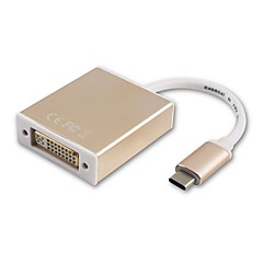 お買い得  ケーブル、アダプター-USB 3.1タイプC USB 3.1タイプC to DVI 0.18メートル(0.6Ft)