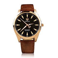 お買い得  大特価腕時計-男性用 リストウォッチ 光る / 夜光計 レザー バンド カジュアル / ファッション / ドレスウォッチ ブラック / ブラウン