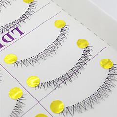 Cílios Cílios Cílios Inferiores Olhos Cruzado Confeccionada à Mão Fibra Transparent Band 0.10mm 6mm