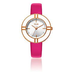 preiswerte Damenuhren-Damen Armbanduhr Quartz 30 m Wasserdicht Imitation Diamant Leder Band Analog Luxus Glanz Modisch Weiß - Rot Blau Jägergrün