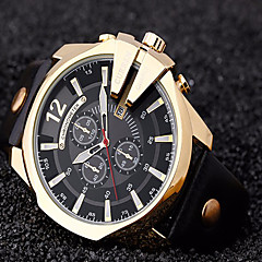 preiswerte Herrenuhren-CURREN Herrn Quartz Armbanduhr / Militäruhr / Sportuhr Cool / Armbanduhren für den Alltag Leder Band Luxus / Retro / Freizeit / Modisch