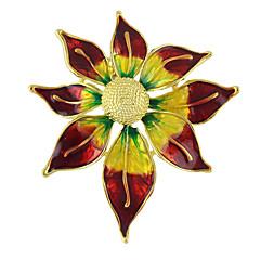 colorat din email broșe forma de floarea soarelui