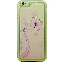 Для Защита от удара Кейс для Задняя крышка Кейс для Бабочка Мягкий Искусственная кожа Apple iPhone 6s/6