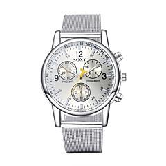 baratos Relógios em Oferta-Masculino Relógio Elegante Relógio de Moda Relógio de Pulso Quartzo Impermeável Lega Banda Prata Branco Preto