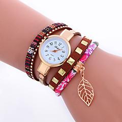 preiswerte Damenuhren-Damen Quartz Armbanduhr / Armband-Uhr Punk / Cool PU Band Charme / Glanz / Blätter / Retro / Süßigkeit / Freizeit / Böhmische / Modisch /