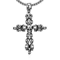 Муж. Ожерелья с подвесками Нержавеющая сталь Крестообразной формы В форме черепаУникальный дизайн В виде подвески Панк По заказу