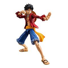 Anime Toimintahahmot Innoittamana One Piece Monkey D. Luffy Anime Cosplay-Tarvikkeet kuvio Punainen PVC