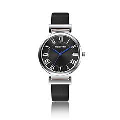 preiswerte Damenuhren-Damen Armbanduhr Modeuhr Quartz Wasserdicht Leder Band Freizeit Schwarz Weiß Braun