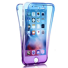 For iPhone 8 iPhone 8 Plus iPhone 7 iPhone 7 Plus iPhone 6 Case Cover Shockproof Full Body Case Color Gradient Soft TPU for Apple iPhone