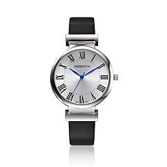 preiswerte Tolle Angebote auf Uhren-Damen Armbanduhr Modeuhr Quartz Wasserdicht Leder Band Freizeit Schwarz Weiß Braun