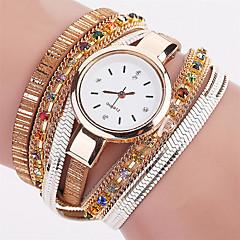 Women's Fashion Watch Wrist watch Bracelet Watch Colorful Quartz PU Band Vintage Sparkle Bohemian Charm Bangle Cool Casual Multi-Colored