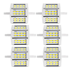 R7S Focos de LED Tubo 24 SMD 5730 880 lm Branco Quente Branco Frio K Decorativa V