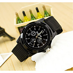 Men's Military Style Fabric Band Quartz Analog Wrist Watch (Assorted Colors) Cool Watch Unique Watch Fashion Watch